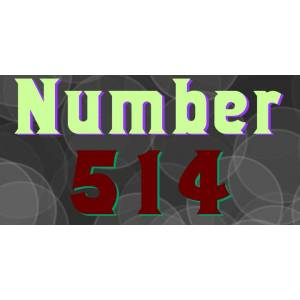Wooden Type Fonts Number 514