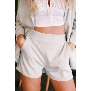 crescent Marnie Elastic Waist Shorts Sage  - Sage - Size: Small