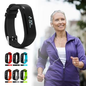Vista Shops HealthSmart Fitness Band Measure Heart Rate, Blood Pressure, Sleep/Step Activity, Calories Burned And More - ORANGE