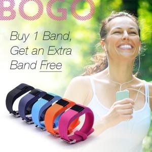 Vista Shops SmartFit Mini Bluetooth Fitness Activity Tracker with Free Extra Band - BLACK