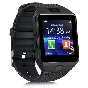 SaveOnDeals Bluetooth Smart Watch Phone + Camera SIM Card For Android IOS Phones - Black