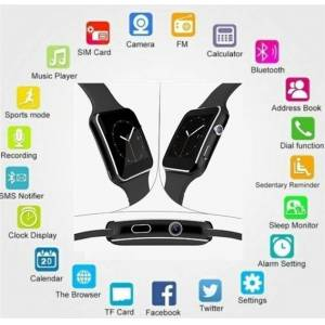 bestbuy Bluetooth Smart Watch for Android and iPhone - black