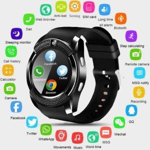 bestbuy Bluetooth Android Waterproof Touch Screen Smart Sport Watch with Camera and SIM Card