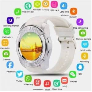 Fashionfresh Smart Watch Support SIM Card and TF Card with Whatsapp and Facebook & Twitter APP - white