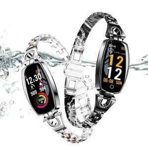 JustgreenBox US Heart Rate Sleep Monitor Touch Screen Blood Pressure Smart Watch Bracelet For Women