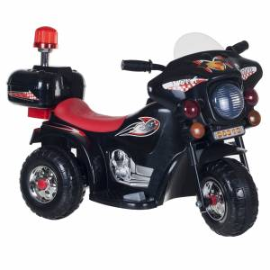 Lil' Rider Three Wheeled Motorcycle Ride-on - Black Ride on Toy Motorbike Chopper 2 - 4 Yrs Toddler