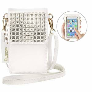 imomoi Small Crossbody Bag Cell Phone Purse Wallet with 2 Shoulder Strap Handbag for Women Girls - pink