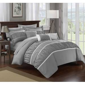 Chic Home 10 Piece Aero Pleated &  Ruffled Bed In a Bag Comforter Set  With sheet set