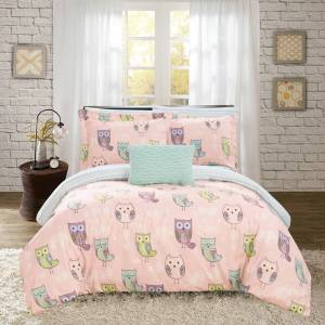 Chic Home Youth Bedding's 8 or 6 Reversible Comforter Set - green, full