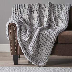 GDFStudio Jacqueline Acrylic Fabric Throw Blanket - Gray
