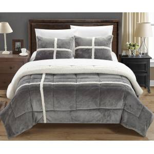 Chic Home Chloe 3 or 2 Piece Comforter Set Ultra Plush Micro Mink Sherpa Lined Bedding – Decorative Pillow Shams Included