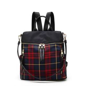 MKF Collection Nishi Plaid Backpack by Mia K. - brown