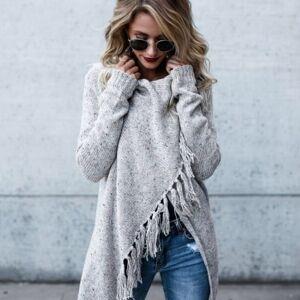Warm house Woman's Medium And Long Section Fringed Shawl Coat