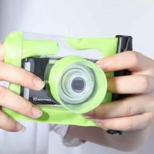 Vista Shops Digital Camera Waterproof Case.. Let it snow ! You can still be out there and take memorable pictures.. - LIME GREEN
