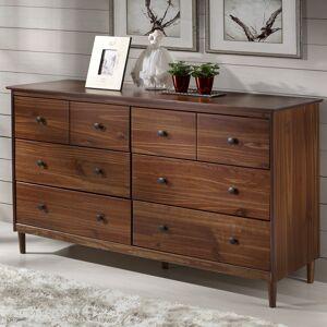 Walker Edison 6-Drawer Solid Wood Dresser - Walnut