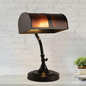 Lavish Home Bankers Lamp Amber Mica Shade Antique Vintage Mission Style Office Desk Light