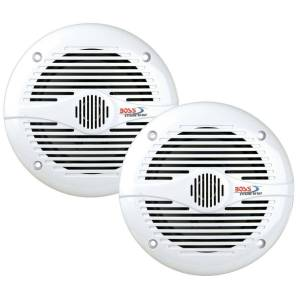 """Boss MR60W 6-1/2"""" 2-Way Marine Speaker Pair 200 Watt White"""
