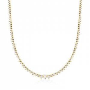 Ross-Simons 10.00 ct. t.w. Diamond Tennis Necklace in 14kt Yellow Gold