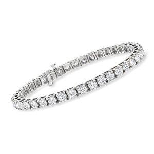 Ross-Simons 10.00 ct. t.w. Diamond Tennis Bracelet in 14kt White Gold