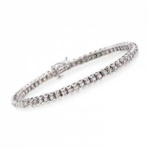 Ross-Simons 1.15 ct. t.w. Diamond Tennis Bracelet in Sterling Silver