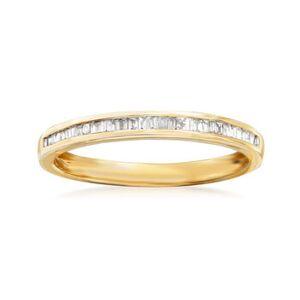 Ross-Simons .15 ct. t.w. Baguette Diamond Ring in 14kt Yellow Gold