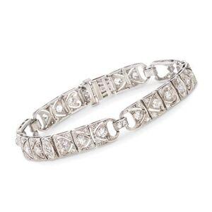 Ross-Simons C. 1970 Vintage 3.25 ct. t.w. Diamond Bracelet in Platinum