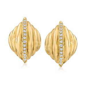 Ross-Simons C. 1990 Vintage .75ct t.w. Diamond Shrimp Earrings in 14kt Yellow Gold