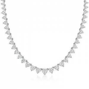 Ross-Simons 25.05 ct. t.w. Diamond Heart Necklace in 14kt White Gold