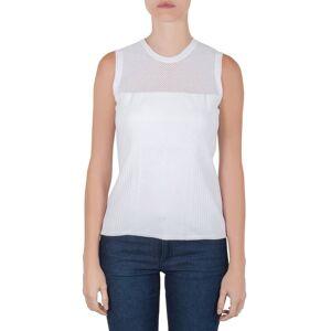 Versace White Stretch Knit Maglia Donna Top M