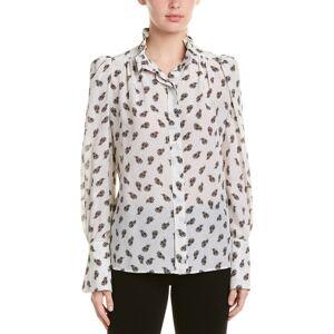 Isabel Marant Etoile Isabel Marant Lamia Printed Silk Shirt  -White - Size: 40