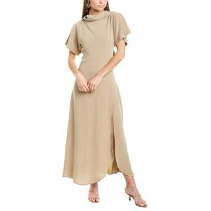 RODEBJER Lye Maxi Dress  -Brown - Size: Small