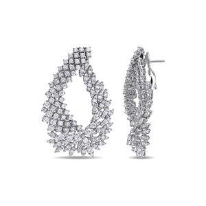 Diamond Select Cuts Certified 18K 8.75 ct. tw. Diamond Drop Earrings   - Size: NoSize