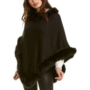 Adrienne Landau Pointed Poncho  -Black - Size: NoSize