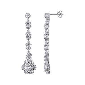 Diamond Select Cuts Certified 18K 3.56 ct. tw. Diamond Drop Earrings   - Size: NoSize