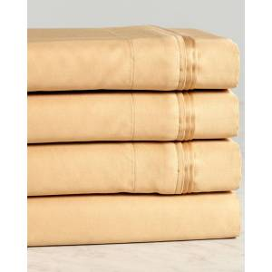 Superior 1000TC 100% Egyptian Cotton Solid Sheet Set   - Size: Olympic Queen