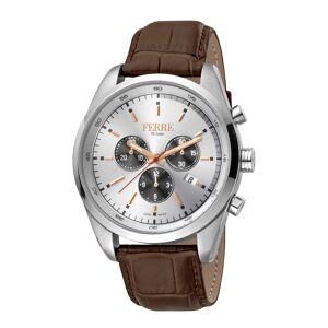 Ferre Milano Men's Leather Watch   - Size: NoSize