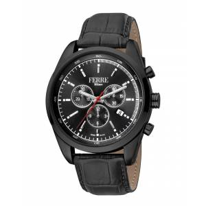 Ferre Milano Men's Leather Watch   - Size: NoSize