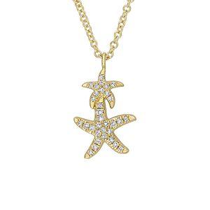 Diamond Select Cuts 14K .07 ct. tw. Diamond Necklace   - Size: NoSize