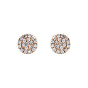 Non Branded Tresorra 18K Rose Gold 0.19 ct. tw. Diamond Cluster Earrings   - Size: NoSize