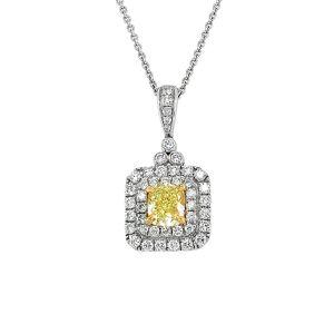 Diana M. Fine Jewelry 18K 1.66 ct. tw. Diamond Necklace   - Size: NoSize
