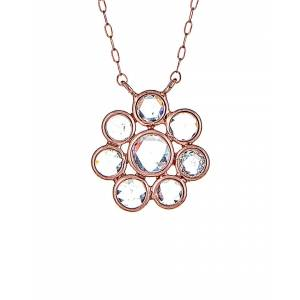 Forever Creations USA Inc. Forever Creations 18K Rose Gold 1.00 ct. tw. Diamond Necklace   - Size: NoSize