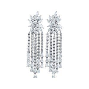 Diana M. Fine Jewelry 18K 17.00 ct. tw. Diamond Earrings   - Size: NoSize