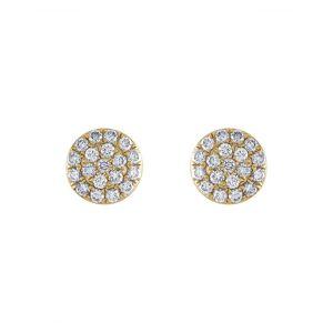 Non Branded Tresorra 18K 0.19 ct. tw. Diamond Cluster Earrings   - Size: NoSize