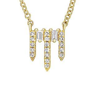 Diamond Select Cuts 14K Diamond Bar Necklace   - Size: NoSize