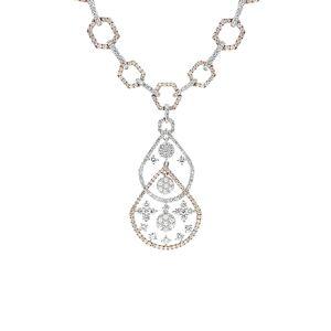 Diana M. Fine Jewelry 18K Two-Tone 5.29 ct. tw. Diamond Necklace   - Size: NoSize