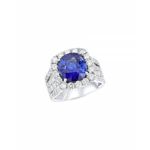 Diana M. Fine Jewelry 18K 8.61 ct. tw. Diamond & Sapphire Ring   - Size: 6