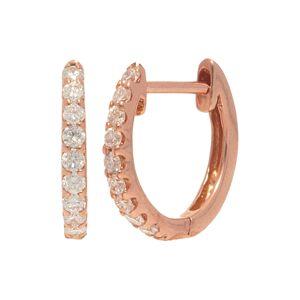 Nephora 14K Rose Gold 0.18 ct. tw. Diamond Huggie Earrings   - Size: NoSize