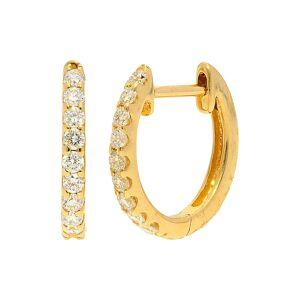 Nephora 14K 0.18 ct. tw. Diamond Huggie Earrings   - Size: NoSize