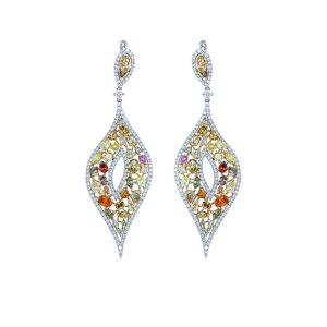Diana M. Fine Jewelry 18K 11.50 ct. tw. Diamond Earrings   - Size: NoSize