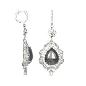 Diana M. Fine Jewelry 18K 19.50 ct. tw. Diamond Earrings   - Size: NoSize